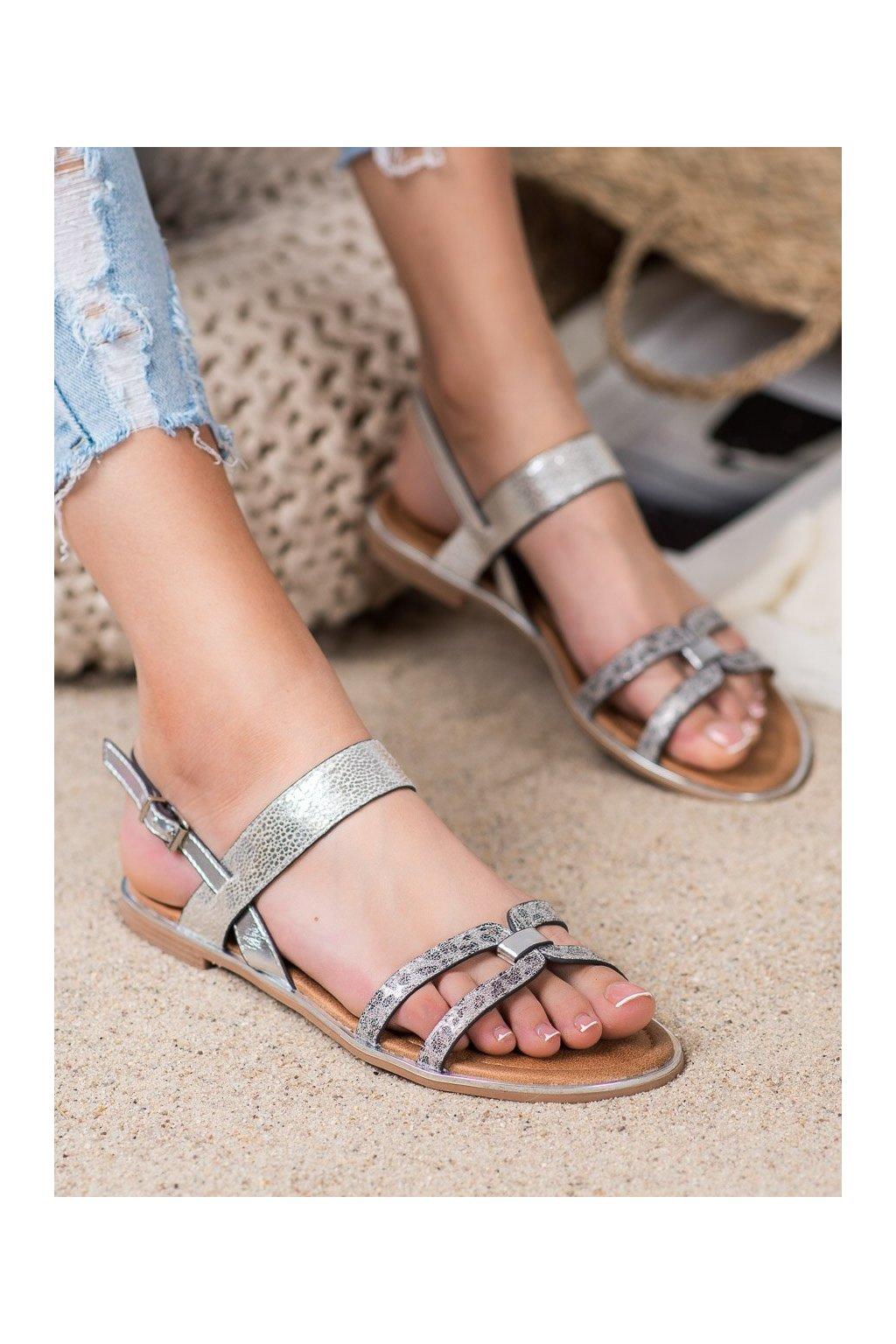 Sivé sandále Vinceza kod MOM20-30302S