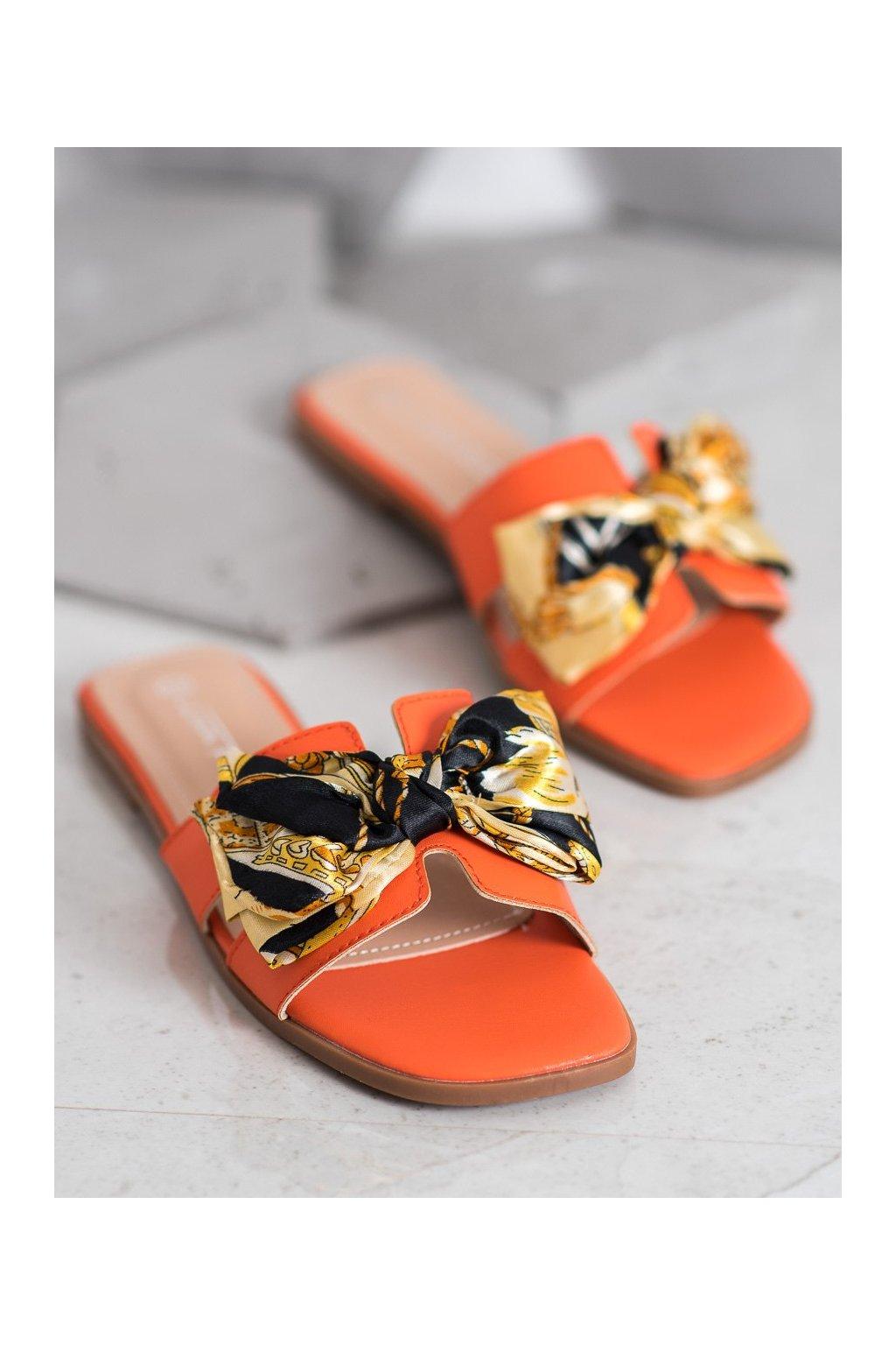 Oranžové šľapky Shelovet kod Y009OR