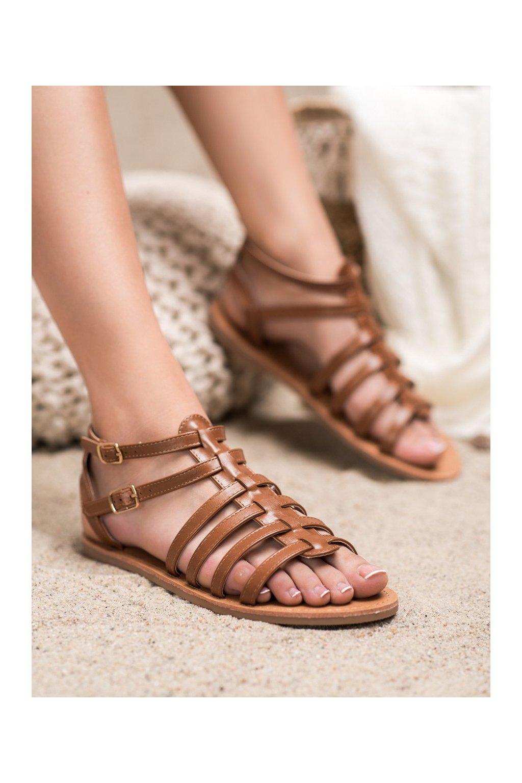 Hnedé sandále Shelovet kod ELSA1TA