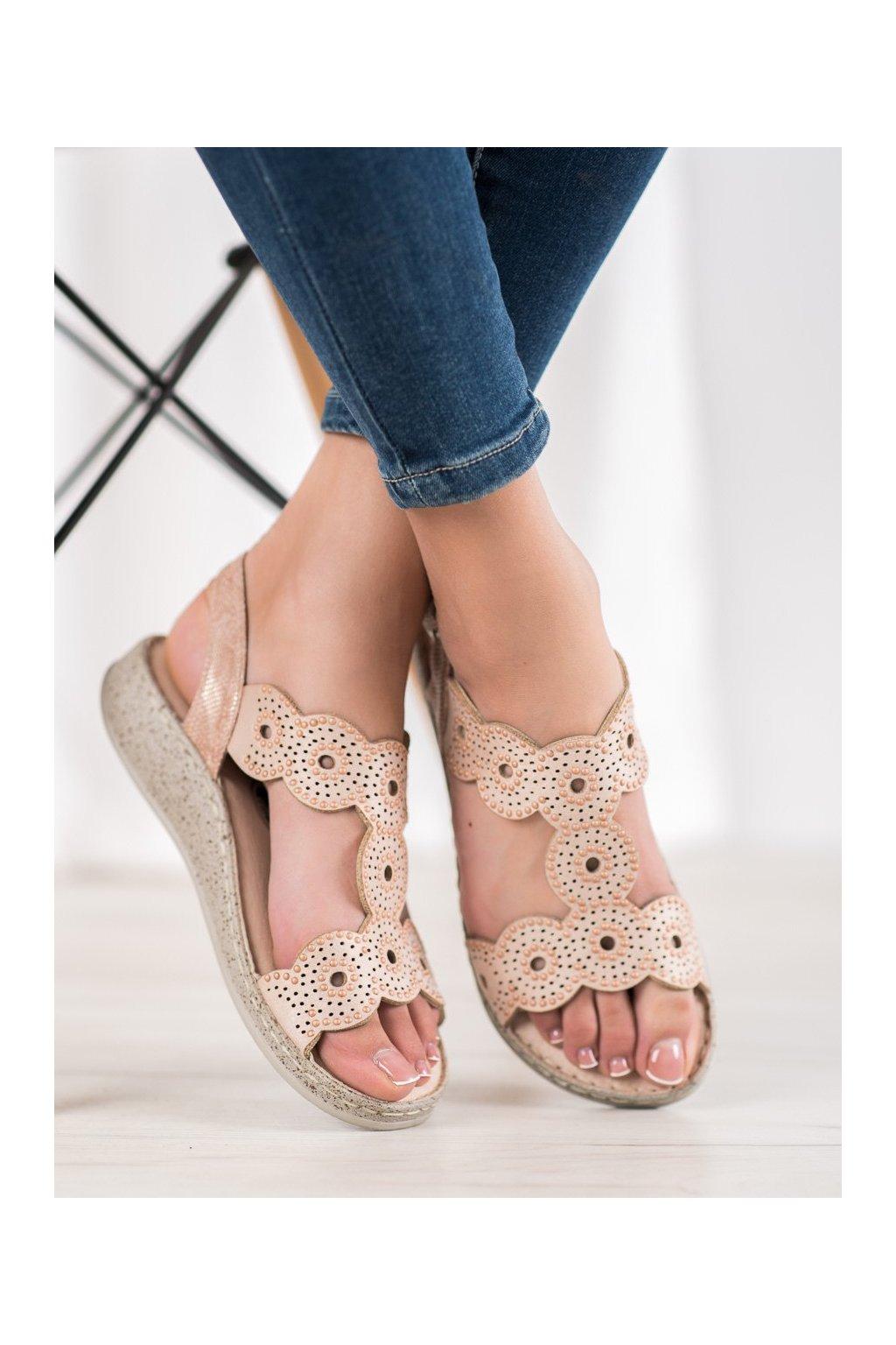 Hnedé sandále Shelovet kod B119-05-03NU