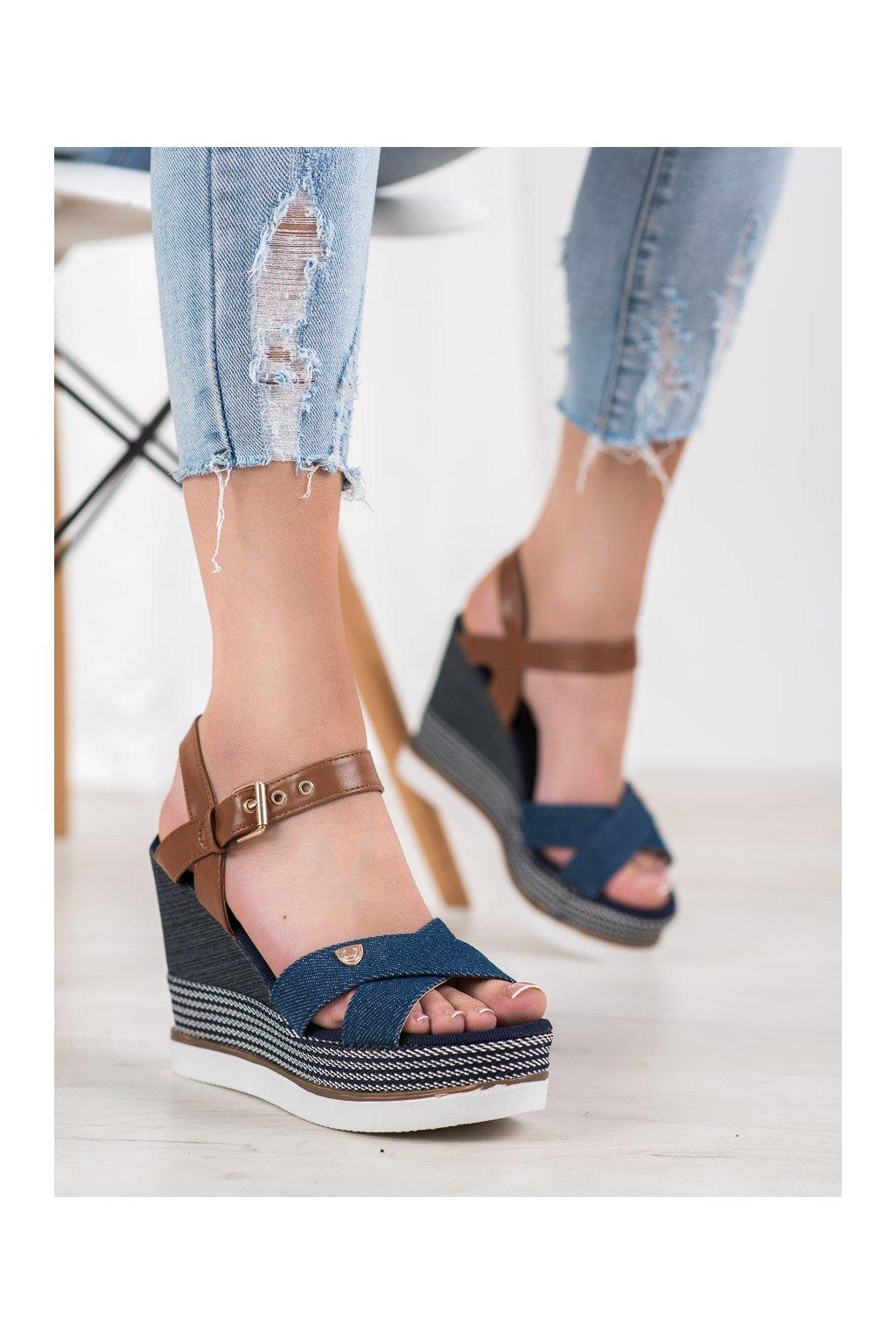 Modré sandále Shelovet kod DSHK-3BL