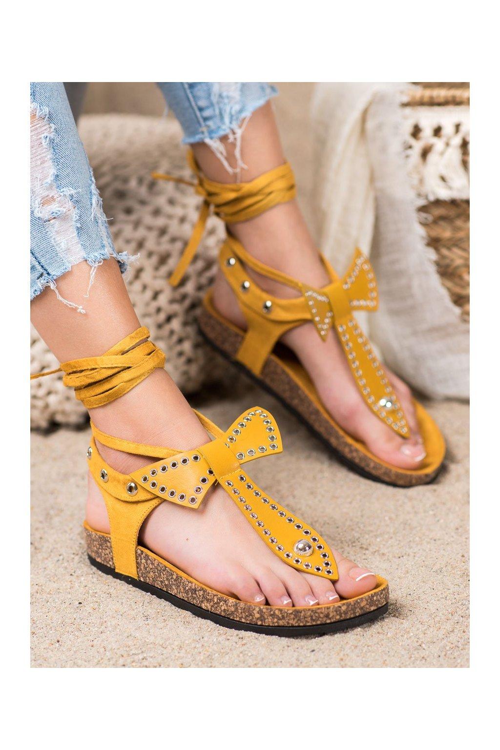 Žlté sandále Seastar kod CK160Y