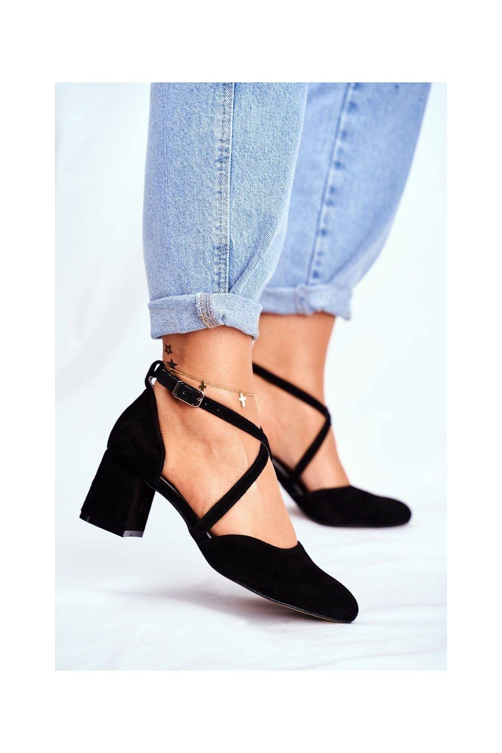 Dámske lodičky farba čierna kód obuvi 04070-01/00-1 CZARNE