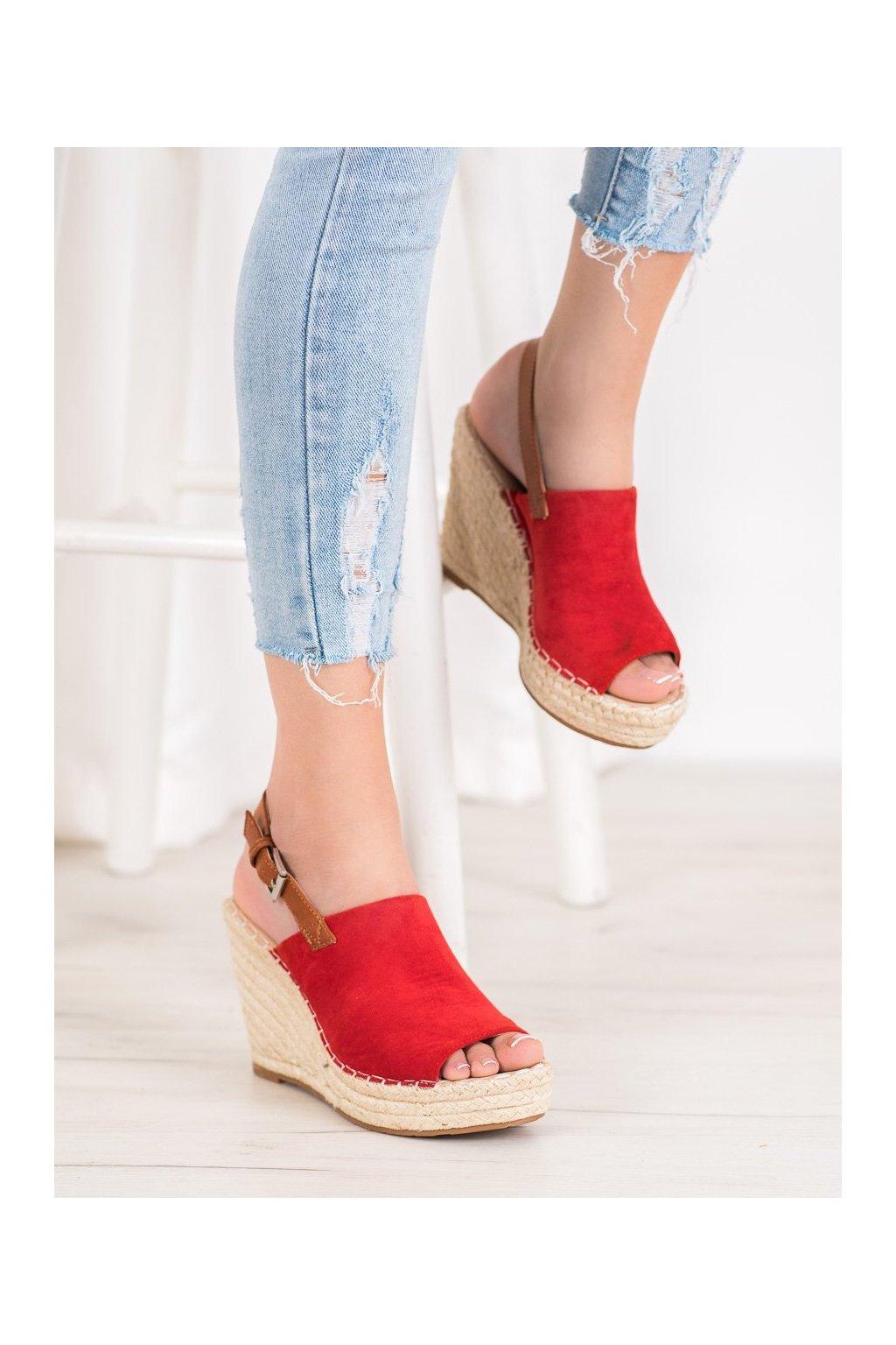 Červené sandále Small swan kod FL68R