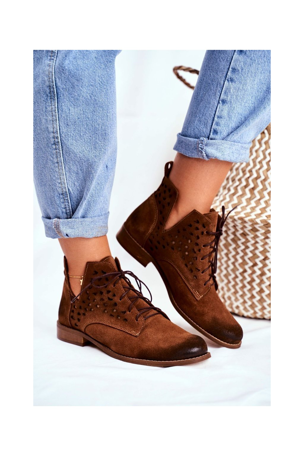 Dámske členkové topánky Kožené ťavia Low Meridan