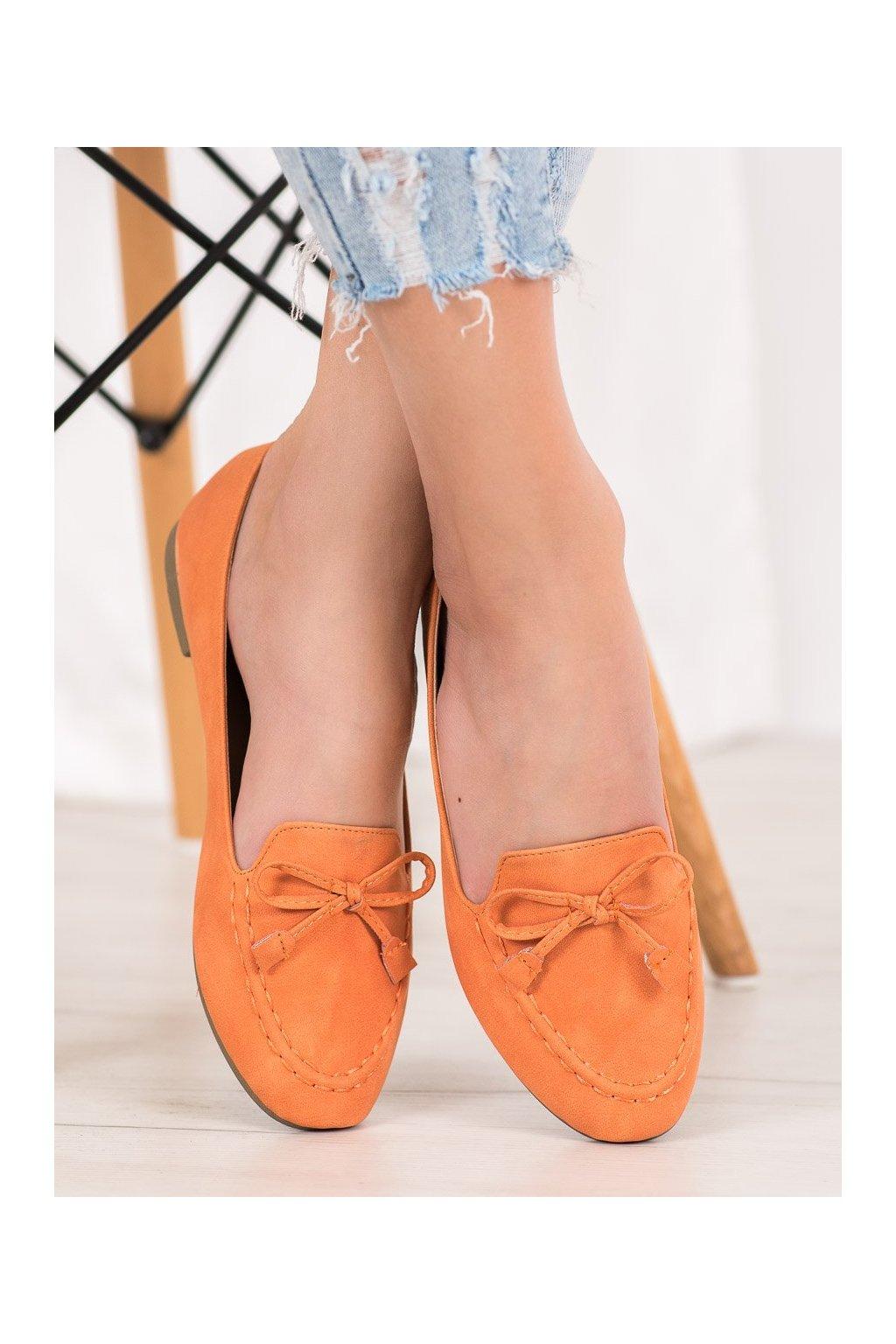 Oranžové mokasíny Nio nio kod 99-07A-OR