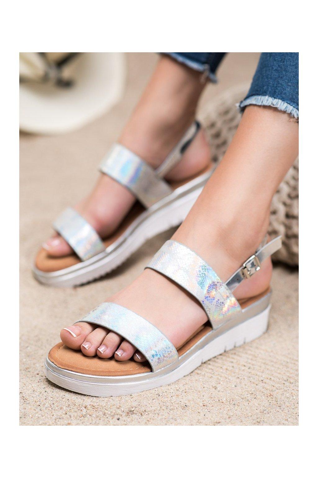 Sivé sandále Small swan kod SK-65S