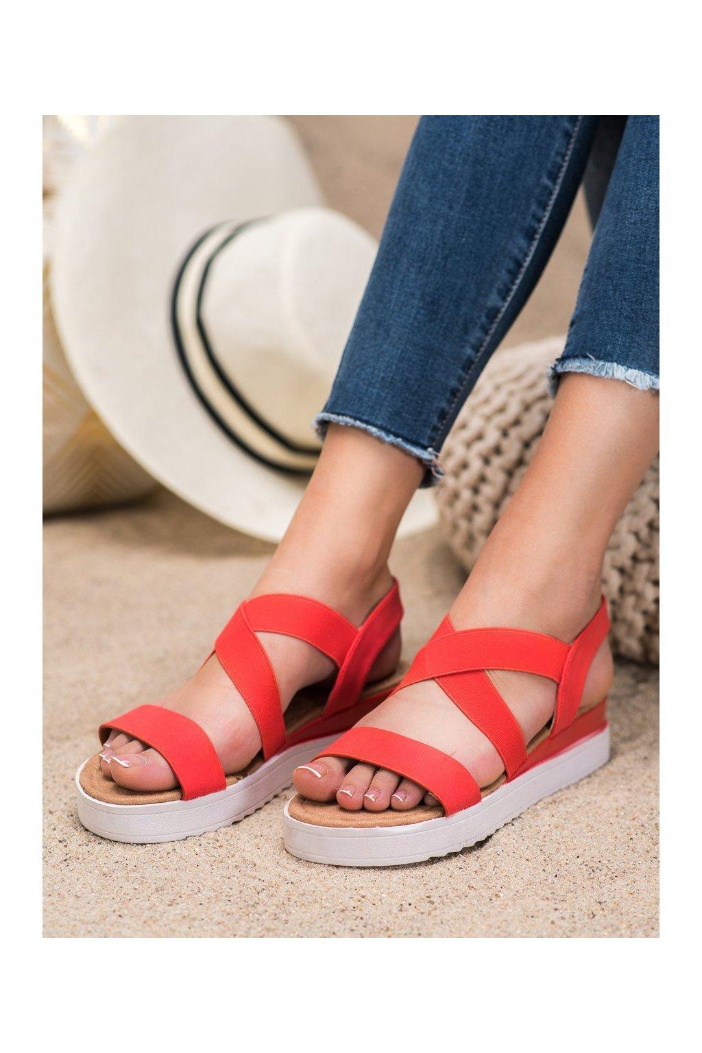 Červené sandále Shelovet kod SBX-23R