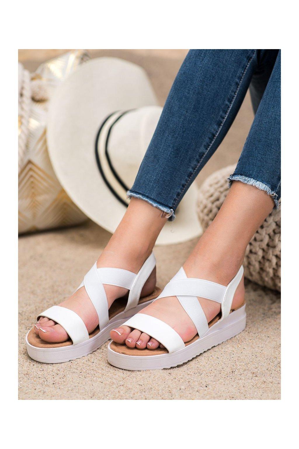Biele sandále Shelovet kod SBX-23W