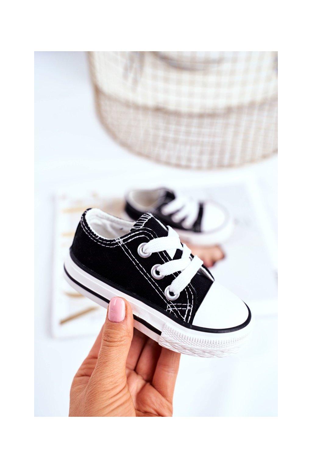 Detské tenisky farba čierna kód obuvi 860 BLK