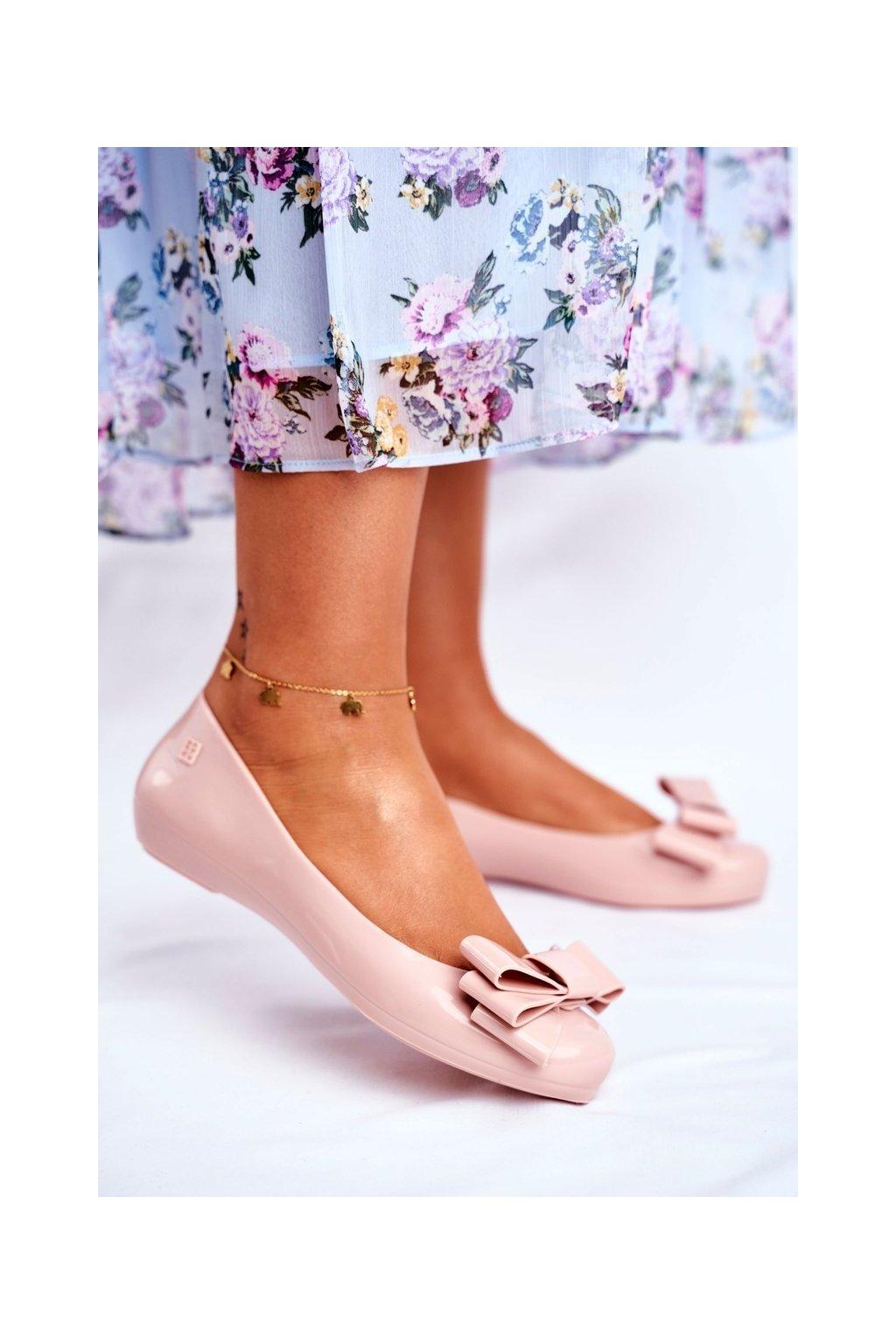 Dámske balerínky farba ružová kód obuvi FF285058 L.PINK