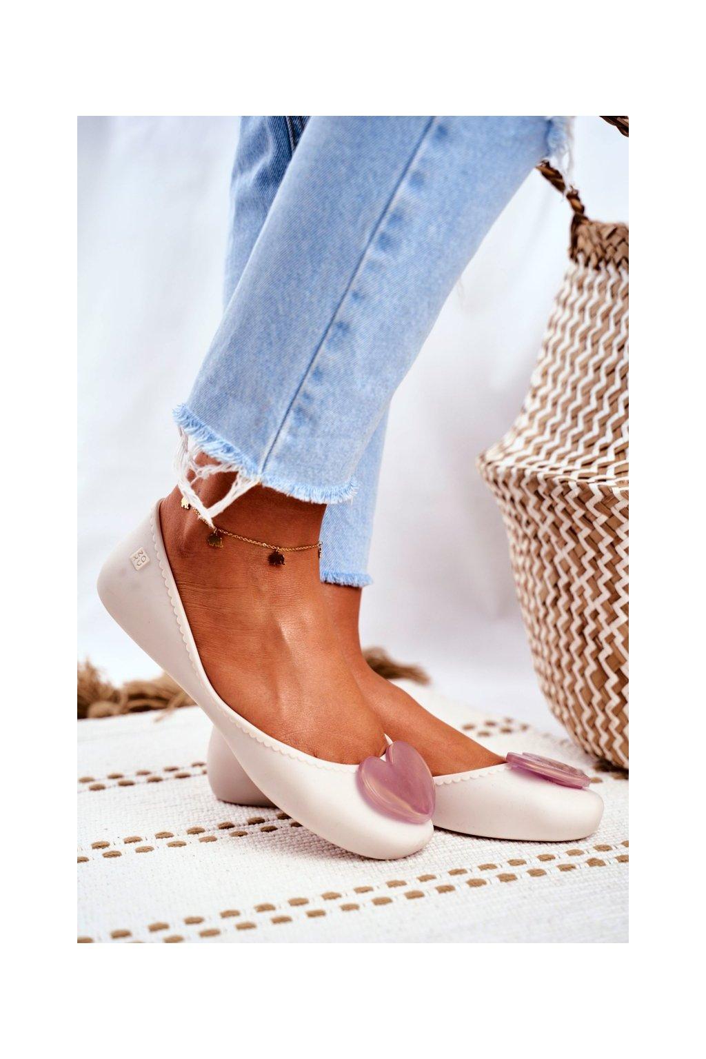 Dámske balerínky farba hnedá kód obuvi FF285051 BEIGE