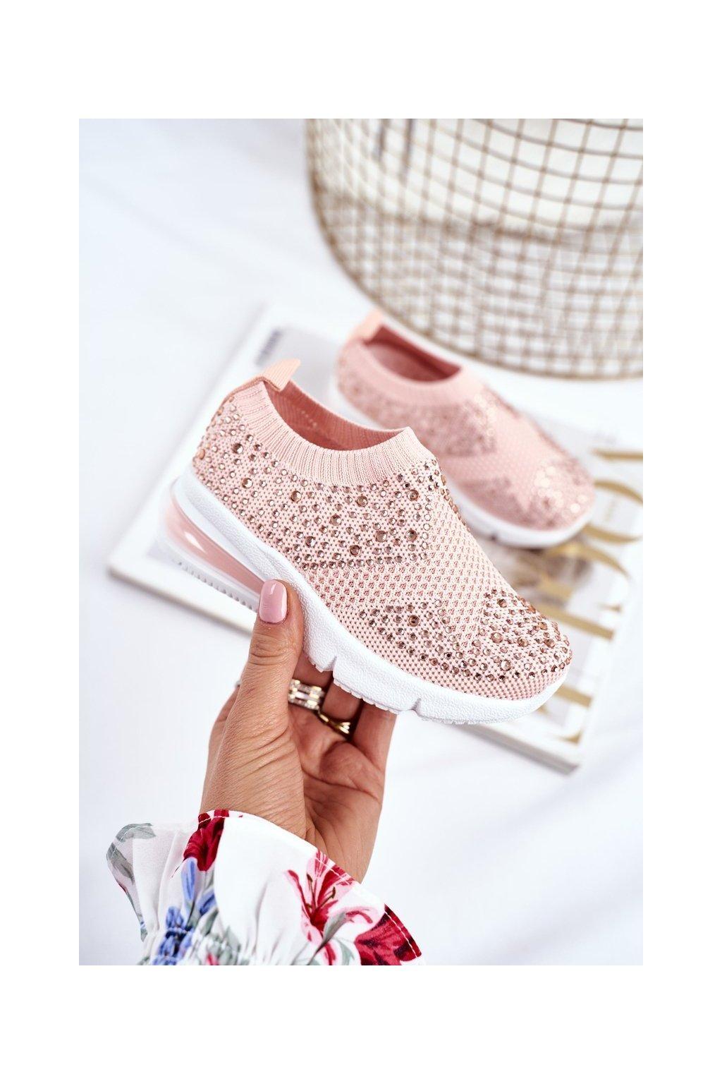 Detské tenisky farba ružová kód obuvi 671-B PINK