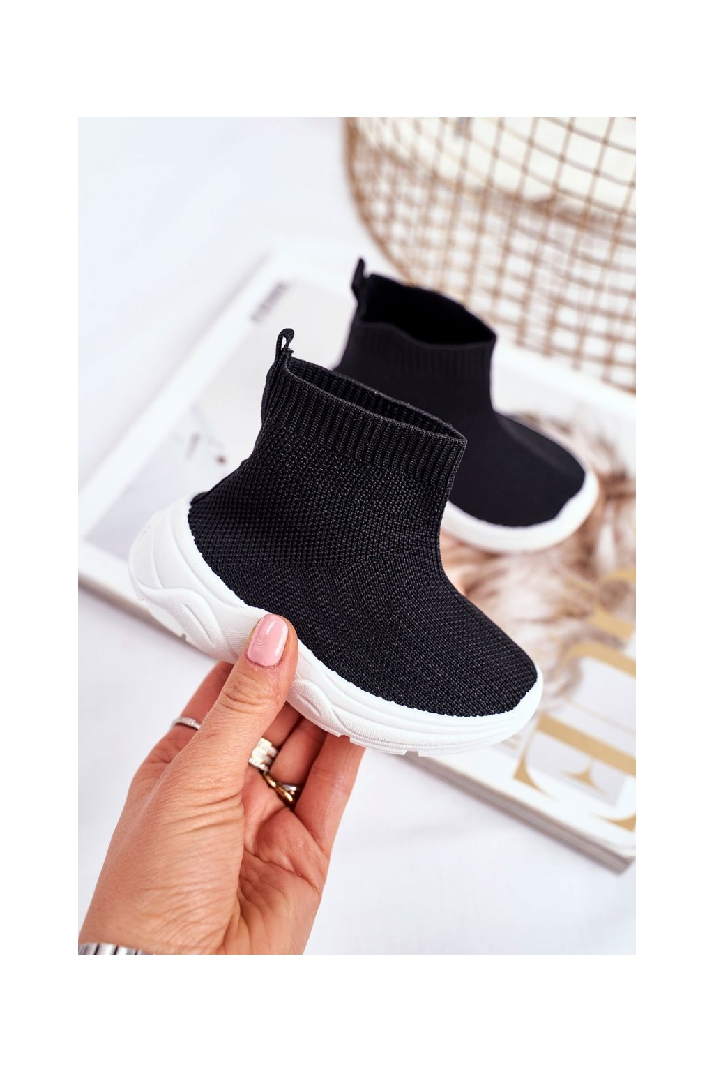 Detské tenisky farba čierna kód obuvi 801-A BLK