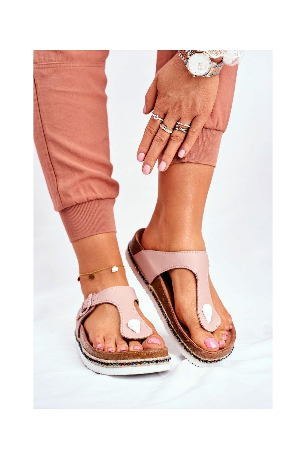 Dámske šľapky farba ružová kód obuvi FF274636 PINK