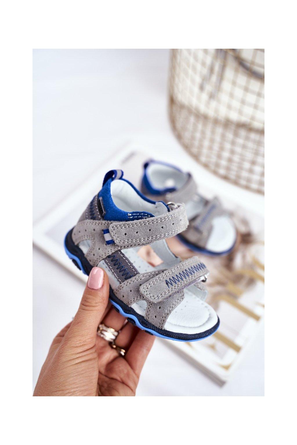 Detské sandále farba sivá kód obuvi T-71824/76G GREY