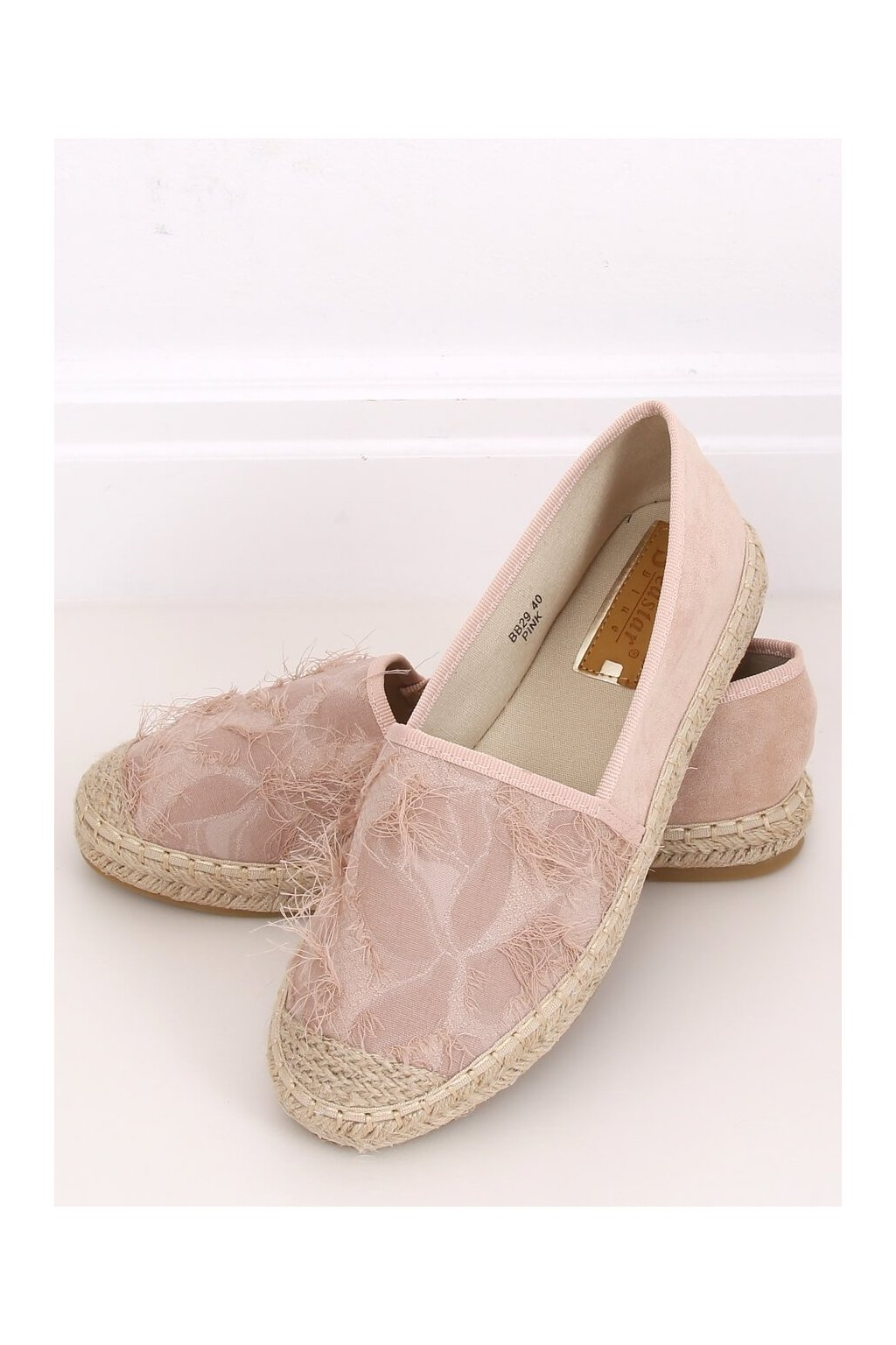 Dámske sandále ružové na plochom podpätku BB29
