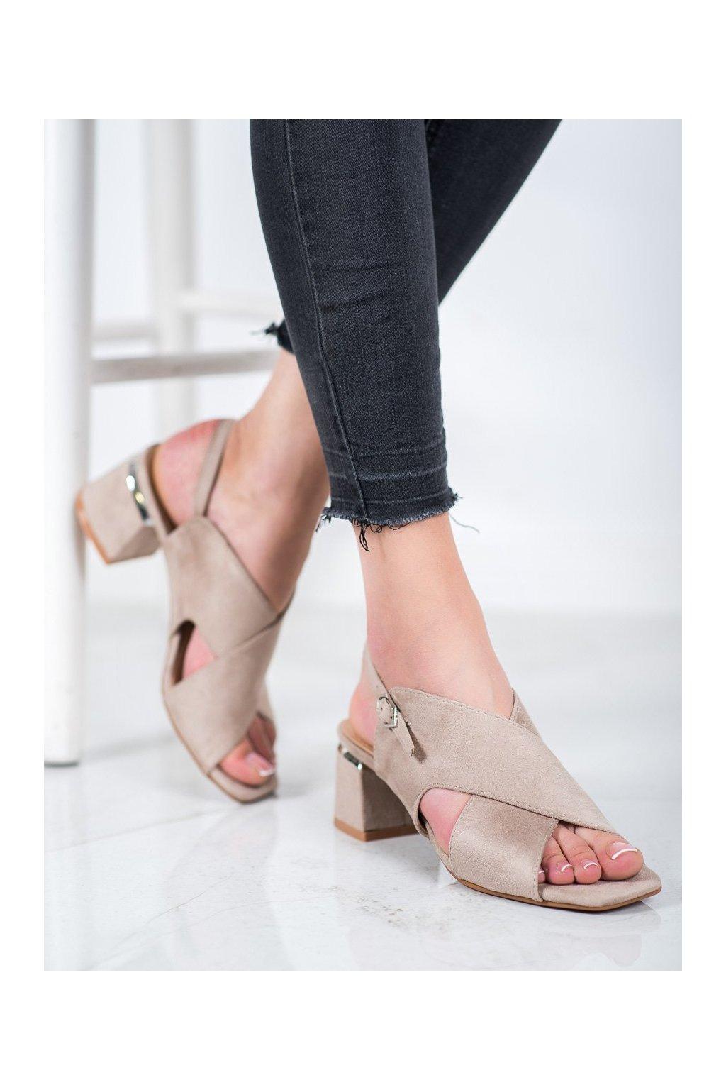 Hnedé sandále Kylie kod K2012801TA