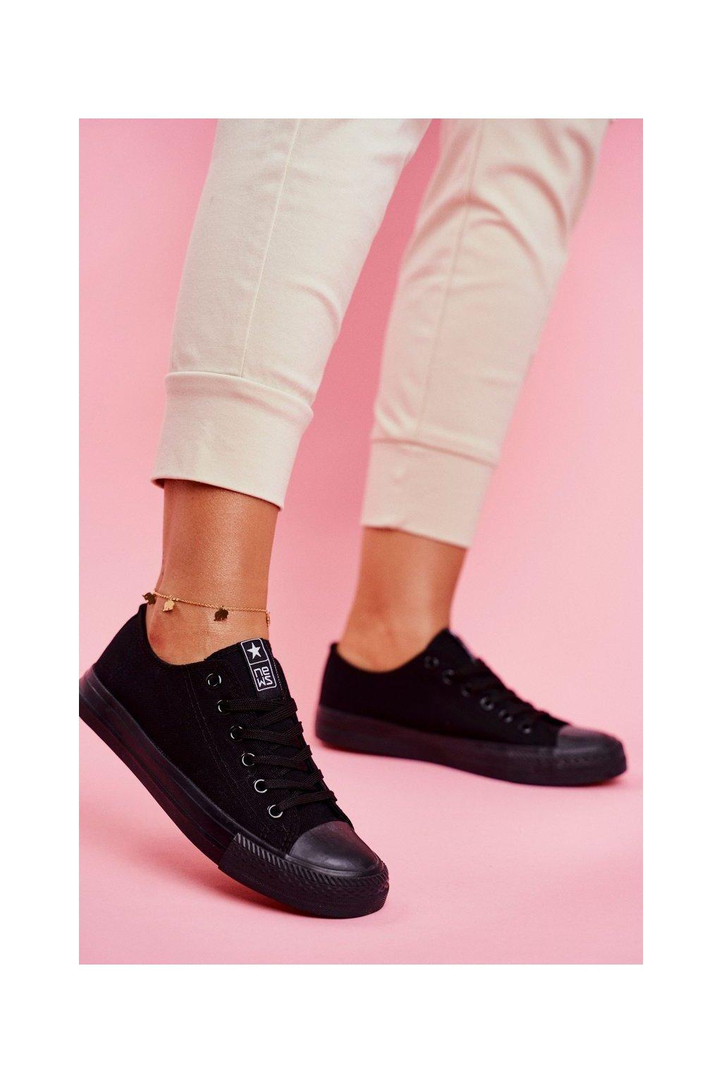 Dámske tenisky farba čierna kód obuvi 9SP30-1141 BLACK BLACK