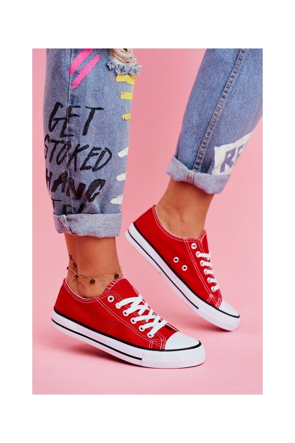 Dámske tenisky farba červená kód obuvi XL03 RED