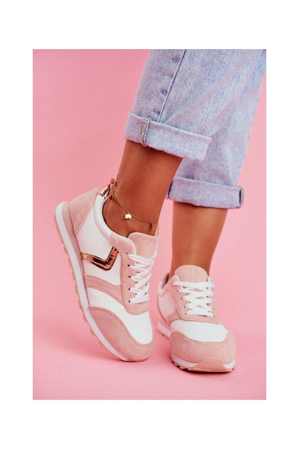 Dámska športová obuv Bílo Ružové Roulette