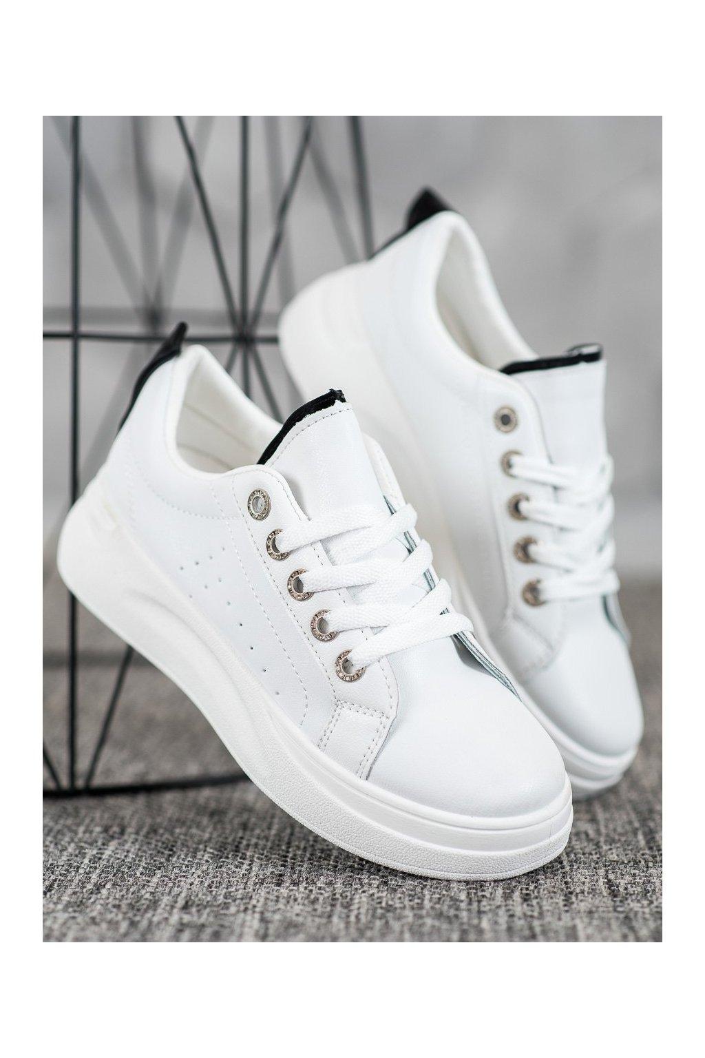 Biele tenisky Shelovet NJSK LLQ203W/B