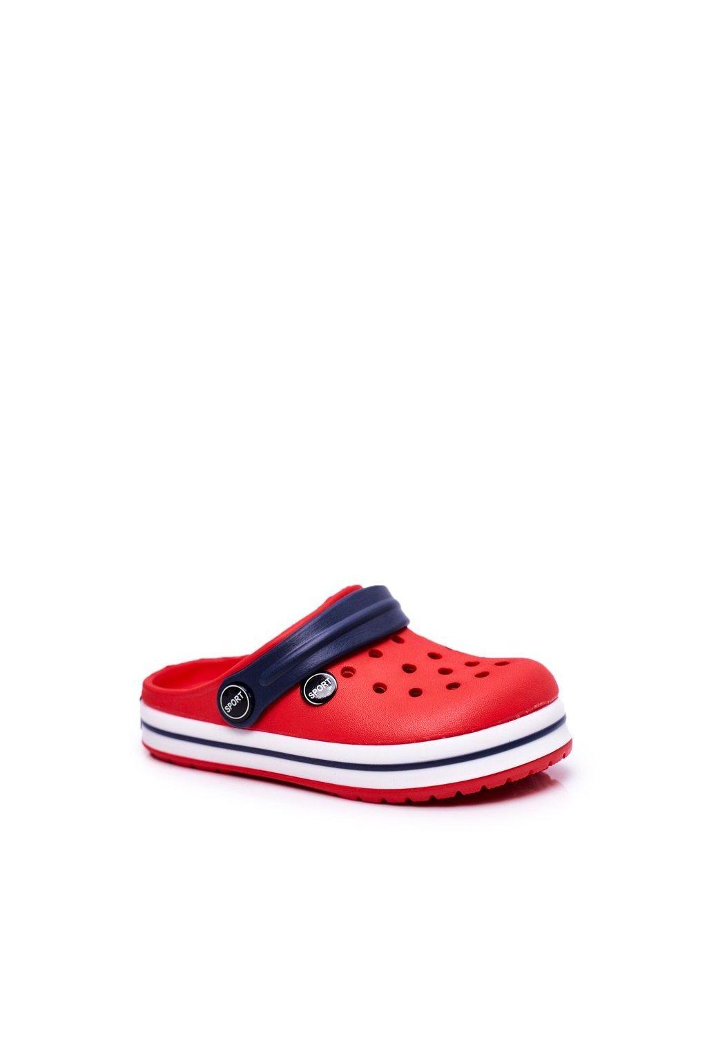 Dievčenské a Chlapčenské šľapky Kroks červené