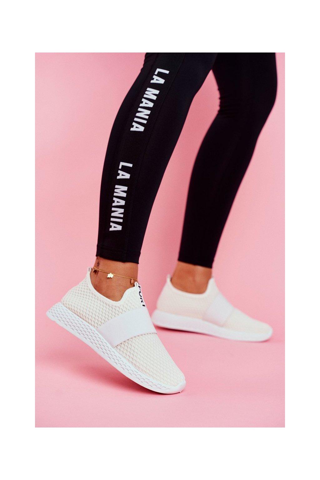Dámska športová obuv Slip-on biele La Fiesta