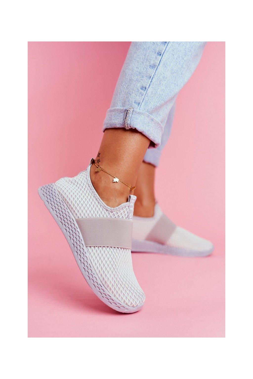 Dámska športová obuv Slip-on sivé La Fiesta