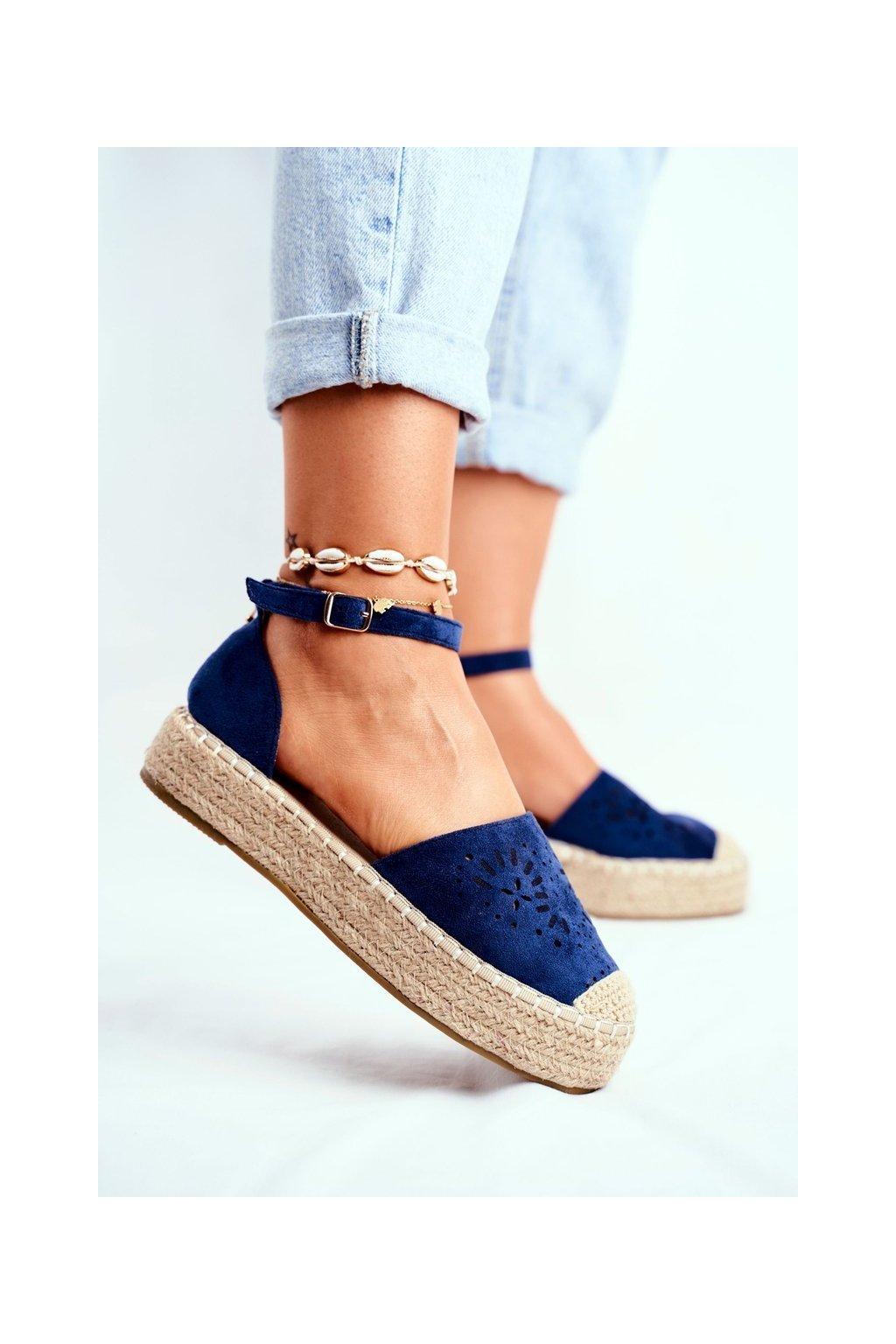 Dámske tenisky farba modrá kód obuvi PK02 NAVY