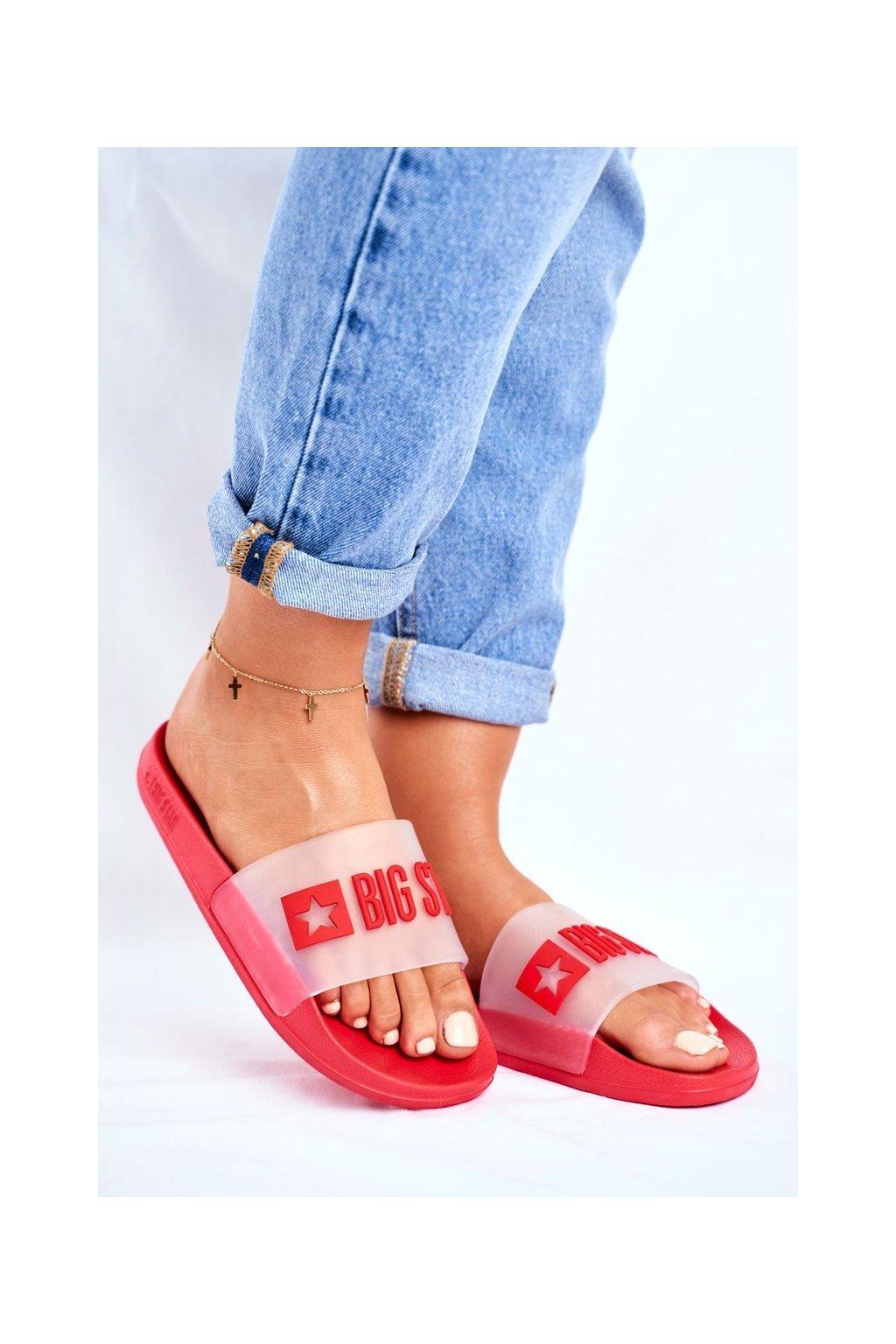 Dámske šľapky farba červená kód obuvi FF274A202 RED