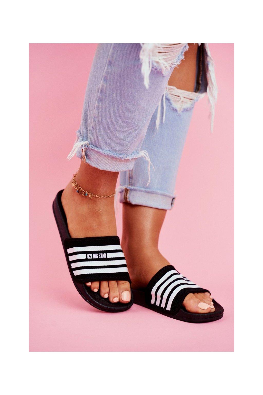 Dámske šľapky farba čierna kód obuvi FF274A353 BLK