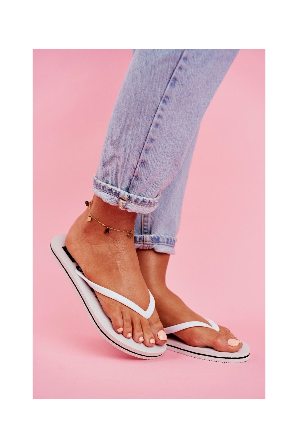 Dámske šľapky farba biela kód obuvi FF274A320 WHITE