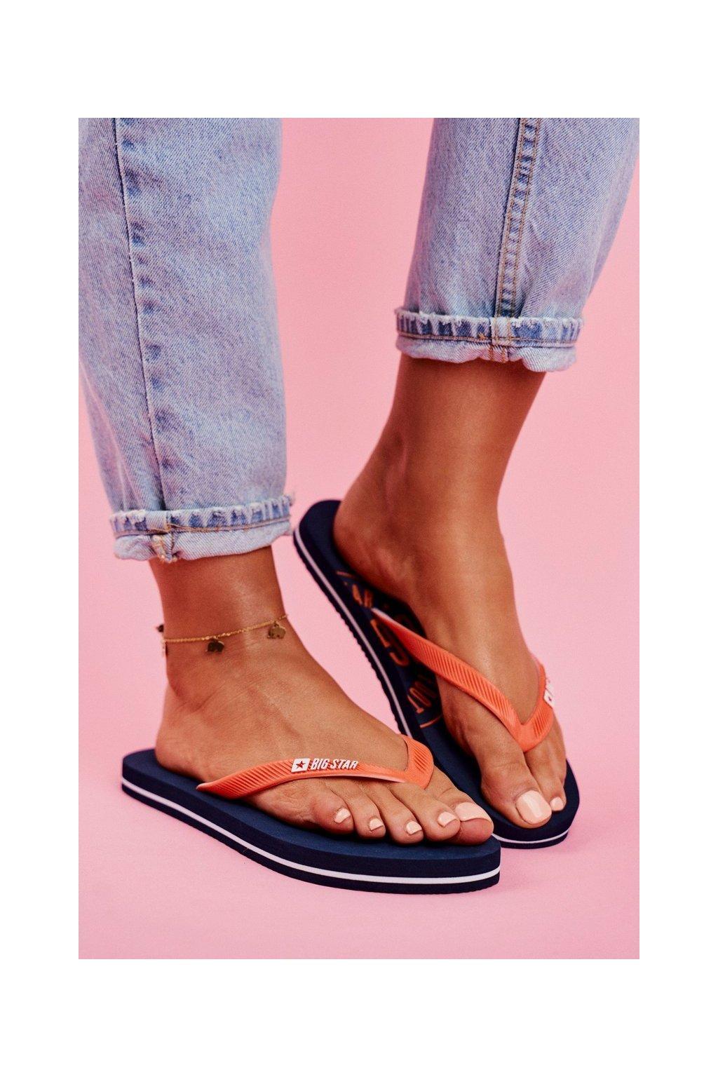 Dámske šľapky farba modrá kód obuvi FF274A297 NAVY
