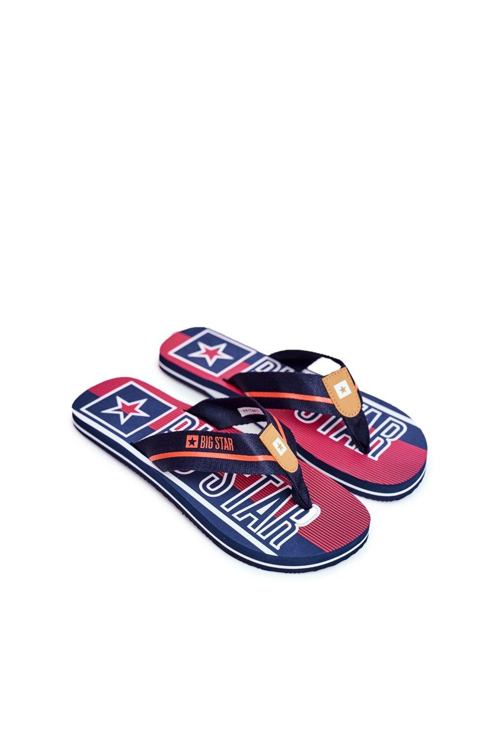 Pánske žabky farba modrá kód obuvi FF174471 NAVY