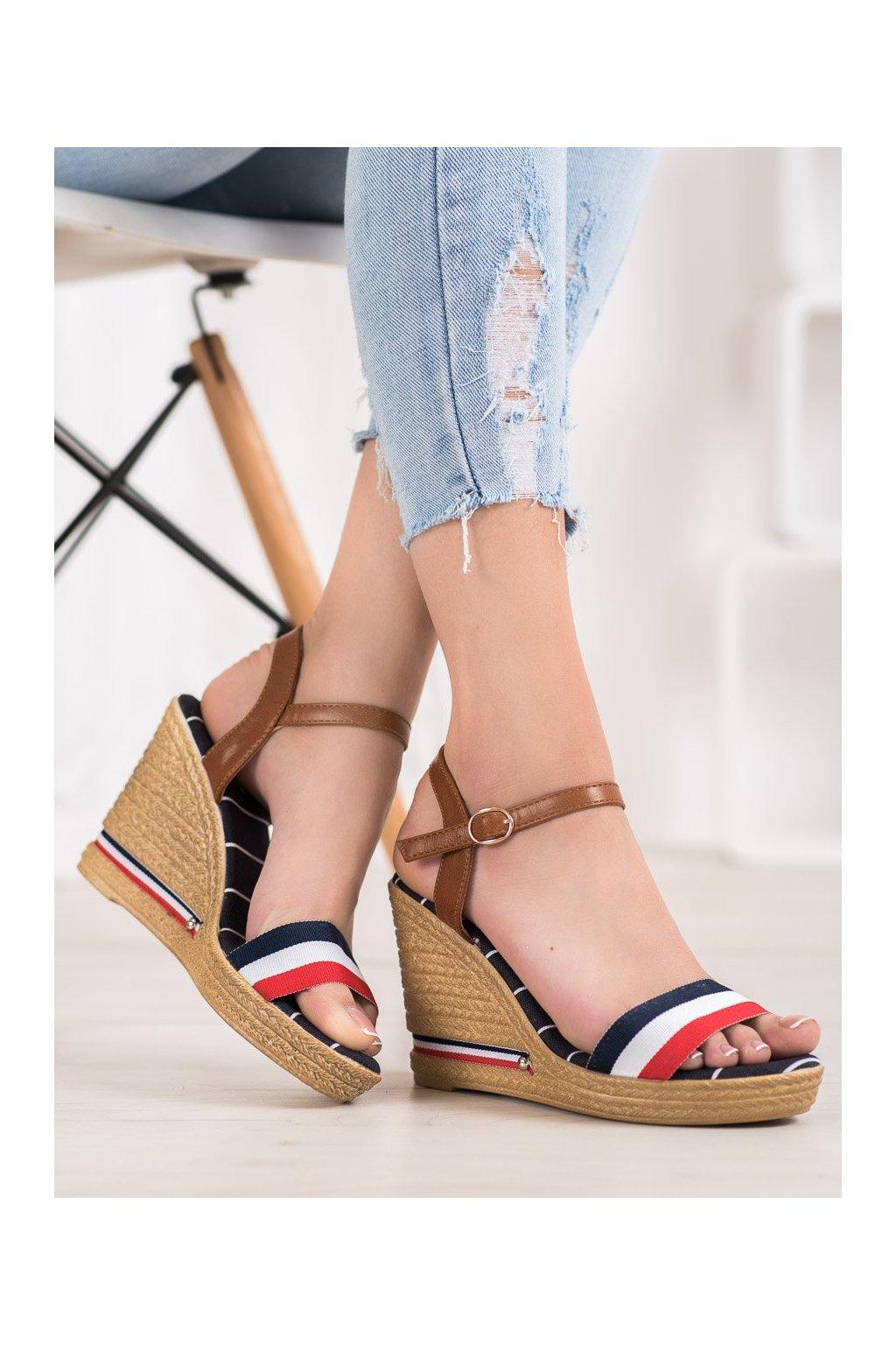 Viacfarebné sandále Yes mile kod 9S0356N