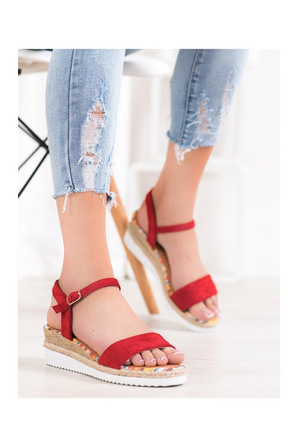 Červené sandále Yes mile kod SS-47R