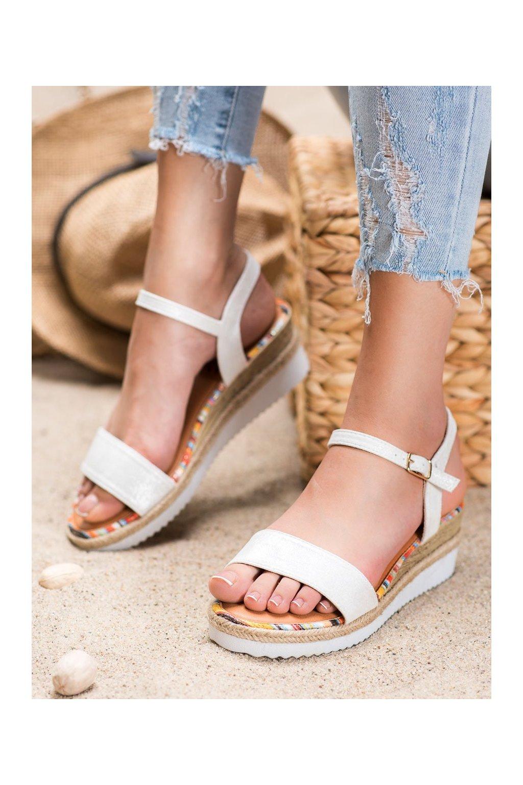 Biele sandále Yes mile kod SS-47W