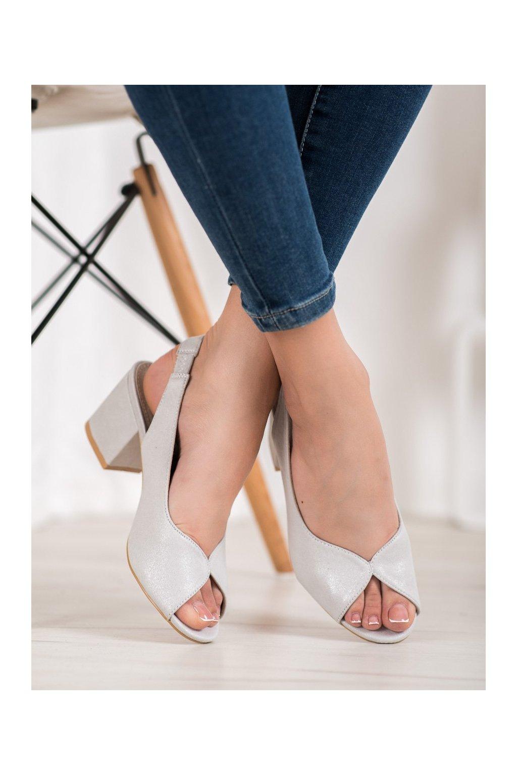 Sivé sandále Filippo kod DS1277/20S