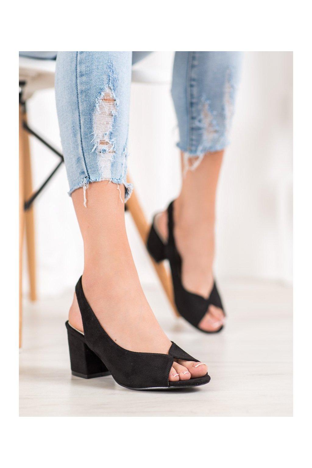 Čierne sandále Filippo kod DS1277/20B