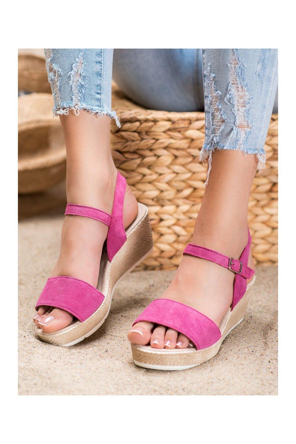 Ružové sandále na platforme Filippo kod DS1330/20F
