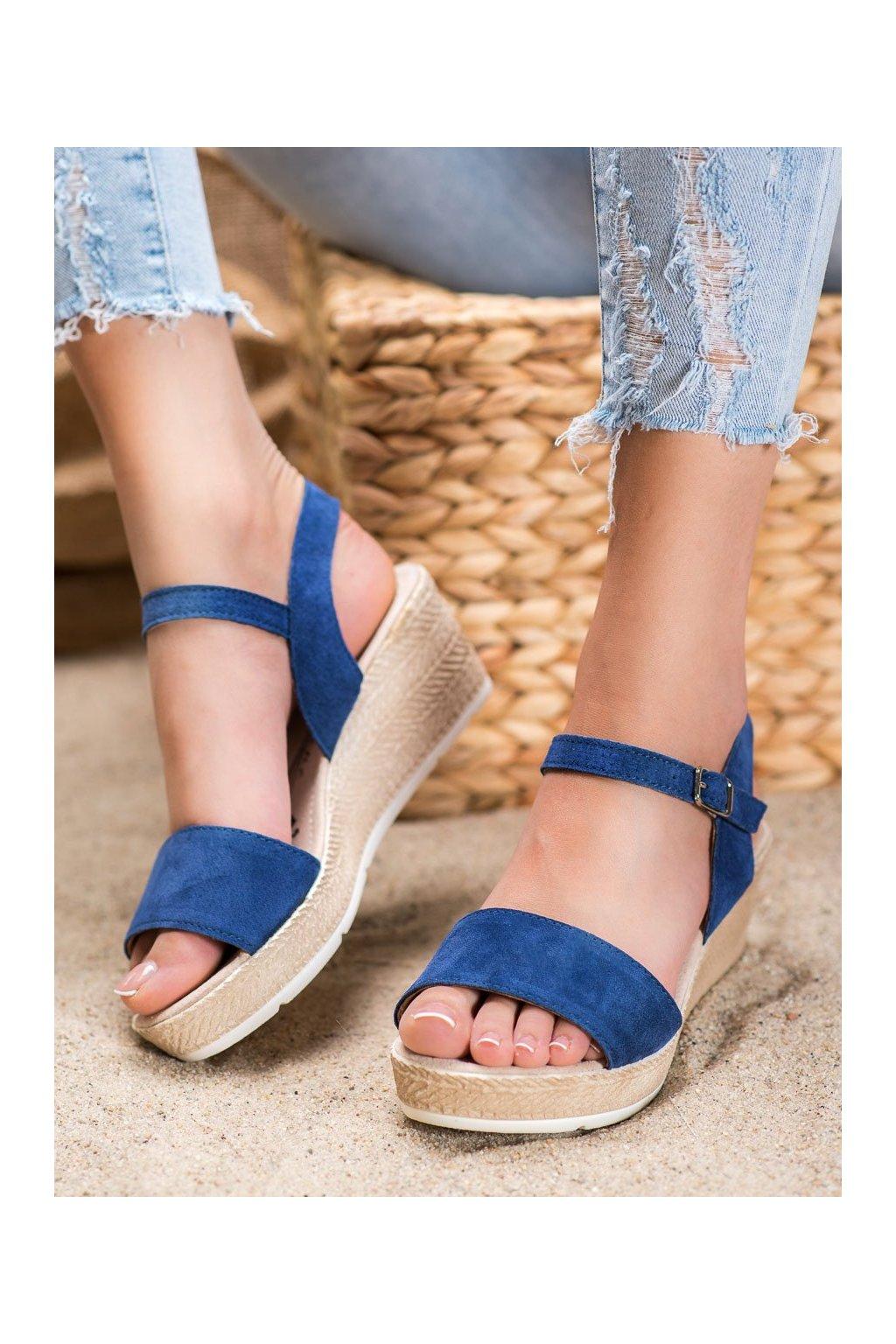 Modré sandále na platforme Filippo kod DS1330/20N