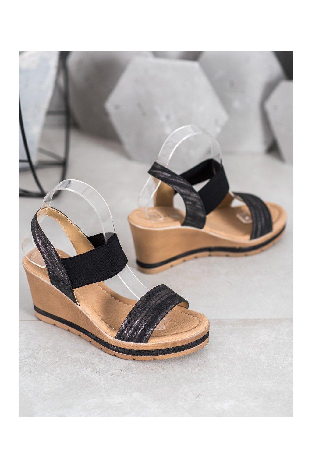 Čierne sandále Sea elves kod 6436B