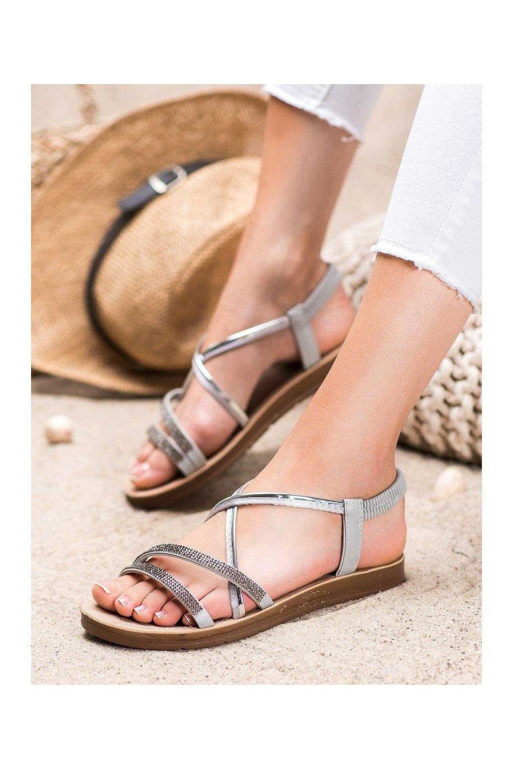 Sivé sandále Sea elves kod 6417G/