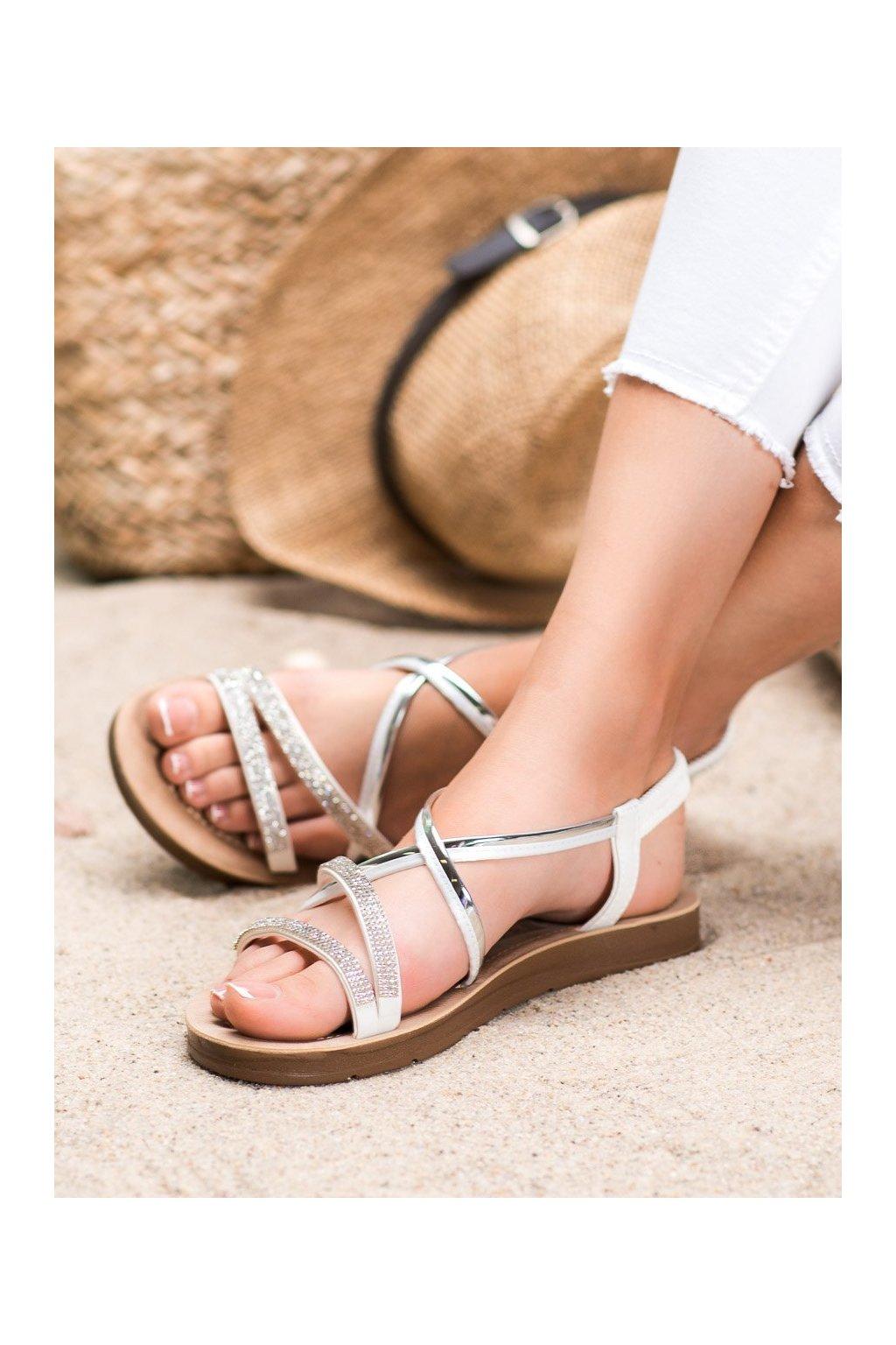 Biele sandále Sea elves kod 6417W/