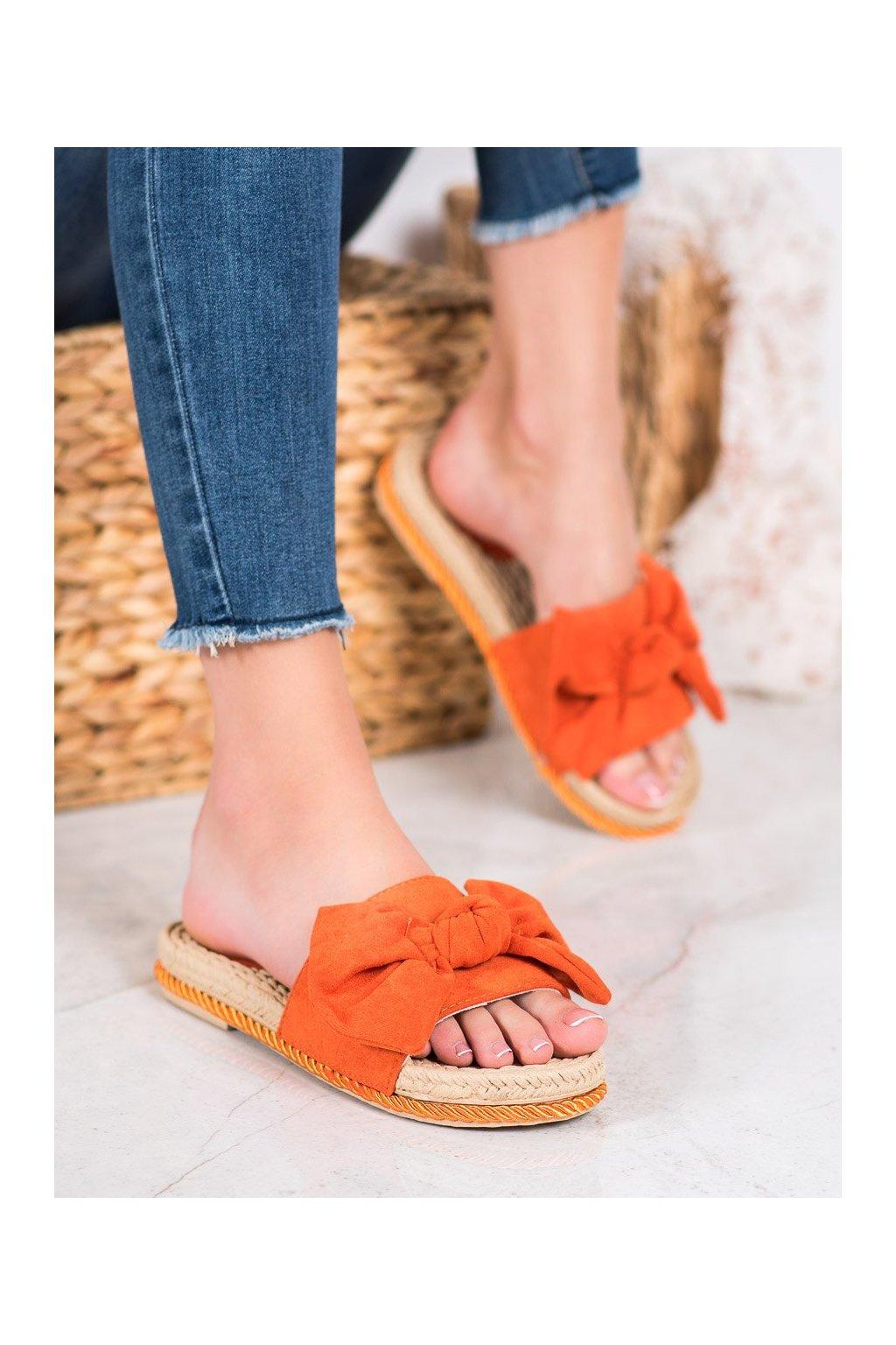 Oranžové topánky Small swan kod MM49OR