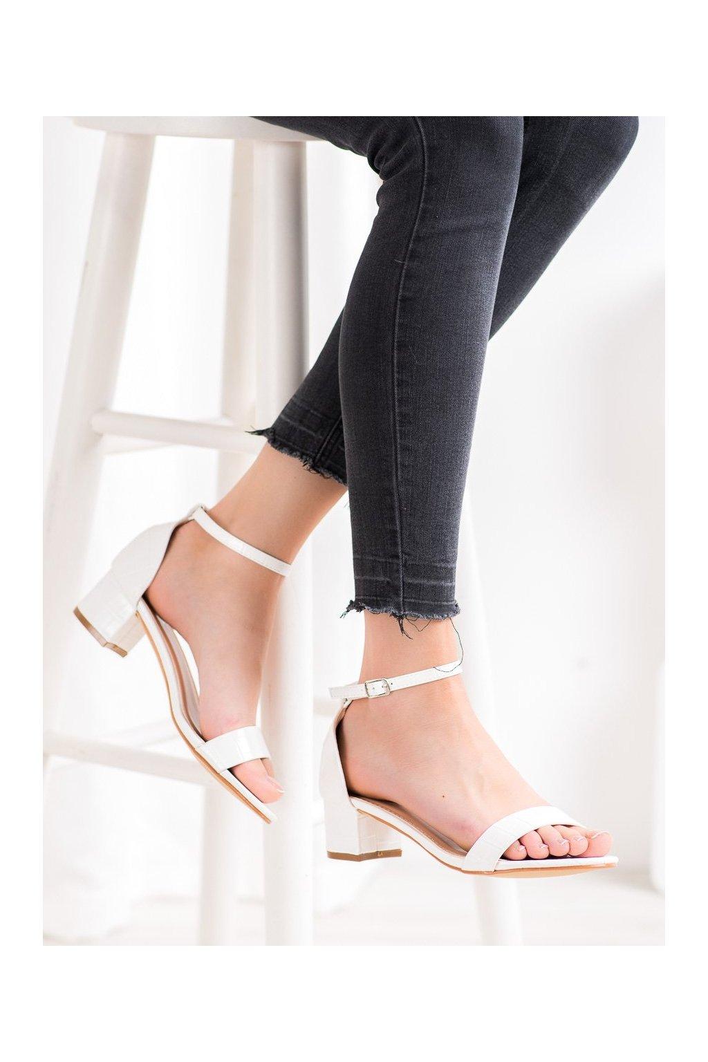 Biele sandále Small swan kod YC-151W