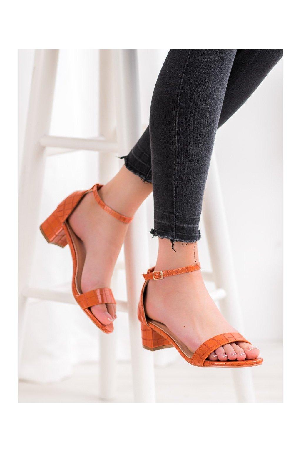 Oranžové sandále Small swan kod YC-151OR