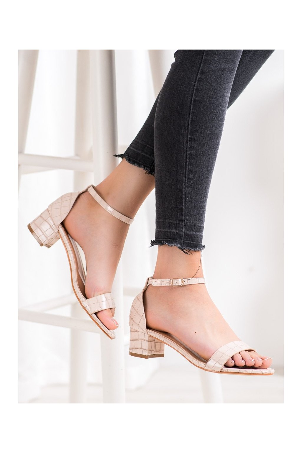 Hnedé sandále Small swan kod YC-151BE