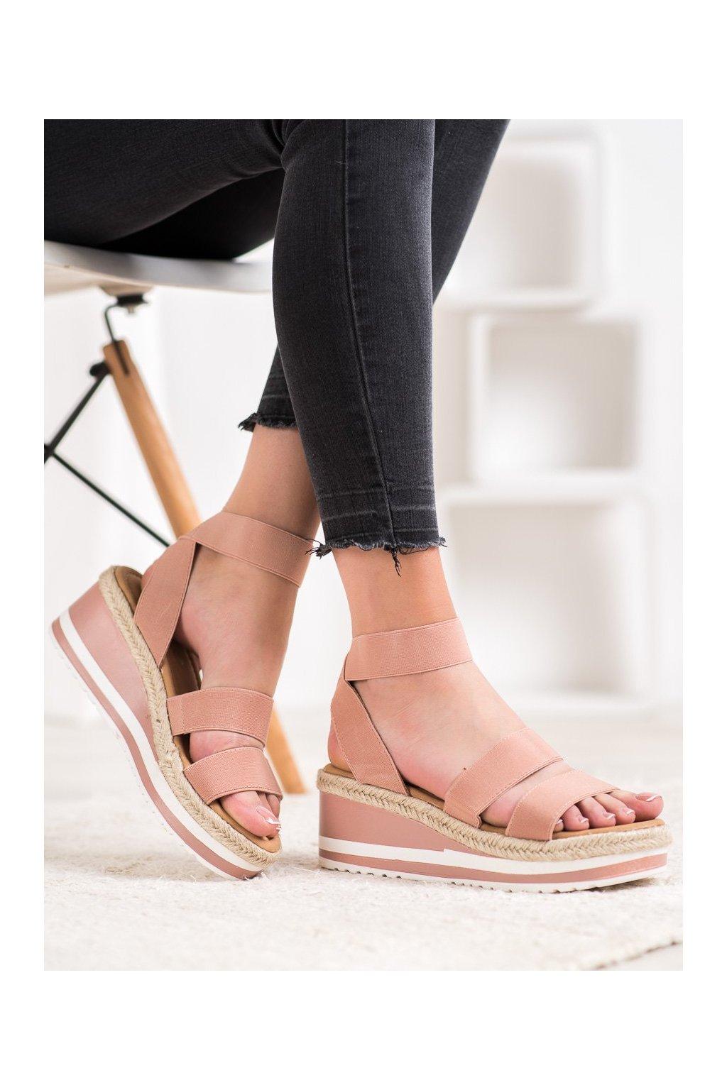 Ružové sandále na platforme Weide kod Y613P